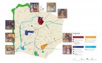 pianta di Padova con itinerario