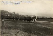 Cavalleria italiana passa sull'Isonzo all'altezza di Gorizia. Archivio Fotografico Museo della Terza Armata