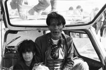 Festa dei Gitani, Saintes Maries de la Mer Camargue, fotografia analogica da pellicola in bianco e nero, 1980
