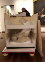 la scultura imballata