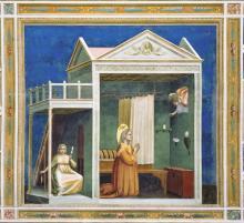 particolare dell'annuncio a Sant'Anna
